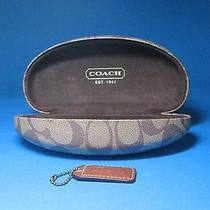 Coach Signature Clamshell Eyeglass Case & Coach Leather Hang Tag Photo