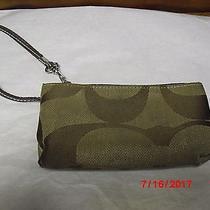 Coach Signature Cloth/canvas Corner Zip Wristlet - Wallet Photo