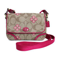 Coach Signature Clover Mini Messenger (New) Photo