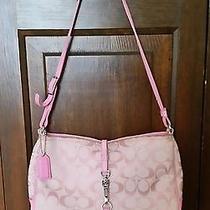 Coach Signature Design Pink Handbag/shoulder Bag Photo