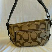 Coach Signature Duffle Hobo Convertible Crossbody Bag Purse F15068 Khaki/brown Photo