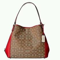 Coach Signature Edie Shoulder Bag Photo
