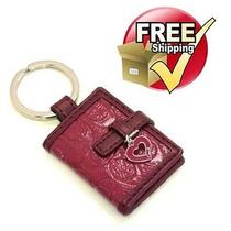 Coach Signature Embossed Picture Frame Key Chain in Red 61849 Photo