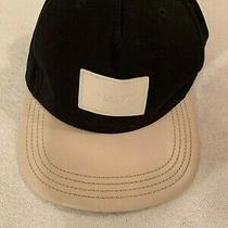 Coach Signature Flat Brim Cap Hat Cotton Leather Authentic Photo