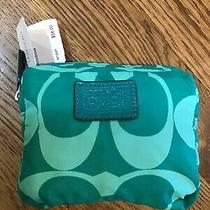 Coach Signature Folding Tote Jade Green New Please See Photos  Photo