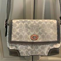 Coach Signature Gray Purse/handbag Photo
