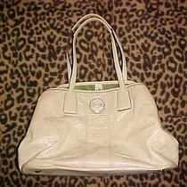 Coach Signature Handbag F15658 Off White     Preowned Photo