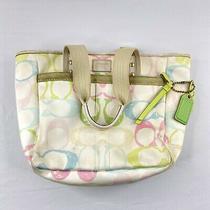 Coach Signature Handbag Mo5k-247 White Rainbow 10 Monogram Purse Bag -7 Photo
