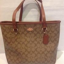Coach Signature Handbag New Womens  Shoulder Bag Large Tote Shopper Coach Photo