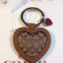 Coach Signature Heart Key Fob Photo