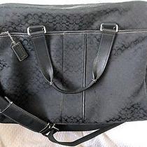 Coach Signature Hudson Laptop Brief Messenger Bag F70181   Photo