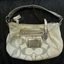 Coach Signature Ivory/white Patchwork Poppy Shoulder Purse Bag  Photo