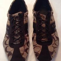 Coach Signature Jayme Sneaker Women Size 8.5 M Brown Photo
