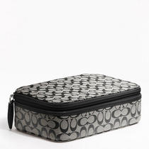 Coach Signature Jewelry Box Style F61698 Sv/black White/black Photo