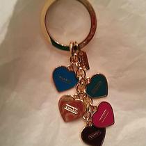 Coach Signature Key Ring Multi Heart Mix Key Ring F66398  Photo