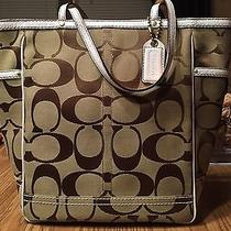 Coach Signature Large Soft Tote New With Tags  Photo