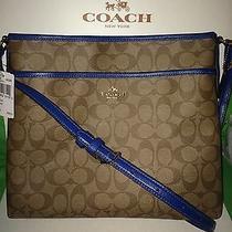 Coach Signature Leather File Bag Crossbody Bag Shoulder Bag Purse Msrp 225 Photo