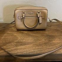 Coach Signature Leather Rowan Medium Satchel Handbag Bag Purse Photo