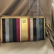 Coach Signature Legacy Stripe Sateen Wristlet Wallet Photo