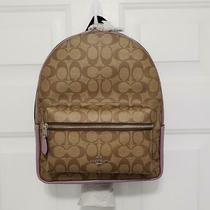 Coach Signature Medium Charlie Backpack Purse Khaki Jasmine F32200 Nwt Photo