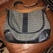 Coach Signature Messenger Laptop Bag Black Photo