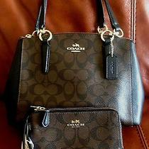 Coach Signature Mini Christie Carryall Crossbody and Wallet Set Msrp 445 Photo