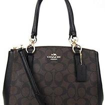 Coach Signature Mini Christie Carryall Satchel Handbag/crossbody (Like Brand New Photo