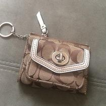 Coach Signature Mini Wallet With Key Ring Photo