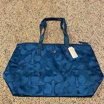 Coach Signature Nylon Large Packable Weekender Tote Bag Photo