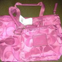 Coach Signature Nylon Packable Tote F77322 Violet  Photo