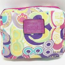 Coach Signature Poppy Designer Folding Shopping Tote  Multi-Color
