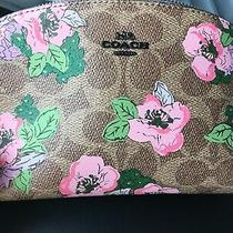 Coach Signature Prarie Floral Cosmetic Case 17 Nwt Last One Photo