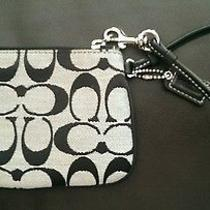 Coach Signature Print Wristlet Photo