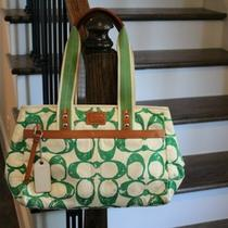 Coach Signature Purse Green Photo