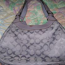 Coach Signature  Purse Hand Bag Hobo 15083 Purple Beautiful Authentic Photo