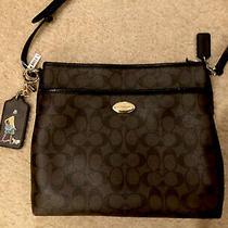 Coach Signature Pvc Crossbody Purse Bag With Matching Key Fob Photo
