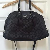 Coach Signature Satchel Black  Photo