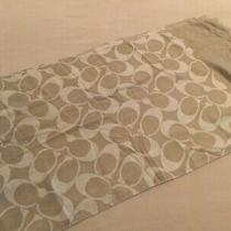 Coach Signature Scarf Khaki  New Photo