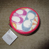 Coach Signature Scribble Jewelry Pouch (Nwt) Photo