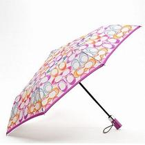 Coach Signature Scribble Multicolor Umbrella F63538 New Photo