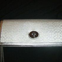 Coach Signature Silver Authentic Clutch Evening Bag Wristlet New Without Tags Photo