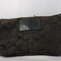 Coach Signature Small Bag Clutch Wristlet Black 9