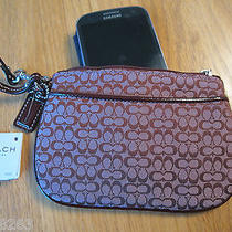Coach Signature Small Wristlet F48400  Cell Coach Protective Pouch Nwt Photo