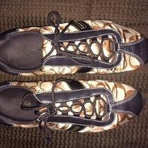 Coach Signature Sneakers Brown Jacquard & Suede Women Size 8m Photo