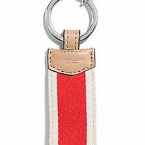 Coach Signature Stripe Webbing Key Ring (F68562)  Photo