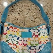 Coach Signature Summer Collection Purse Fun Colors Photo