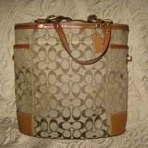 Coach Signature Tall Gallery Tote  Photo