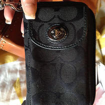 Coach Signature Wallet / Cell Phone Case / Id & Credit Card Holder  Photo