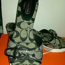 Coach  Signature Wedge Sandals Sneaker Shoes Platforms Womens Size 8 Photo