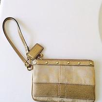 Coach Signature Wristlet- Gold Photo